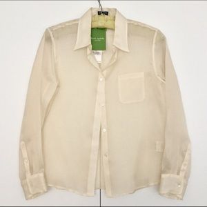 Kate Spade Organza Silk Sheer Blouse